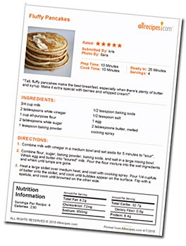 5 Star Pancake Recipe