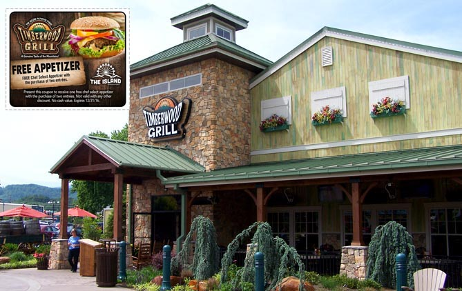 Pigeon Forge Restaurant Coupon for Timberwood Grill