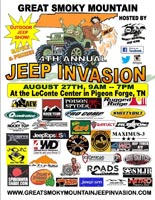 Great Smoky Mountain Jeep Invasion Pigeon Forge
