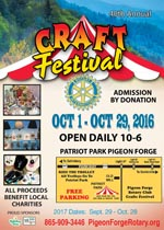 Pigeon Forge Rotary Club Craft Show at Patriot Park