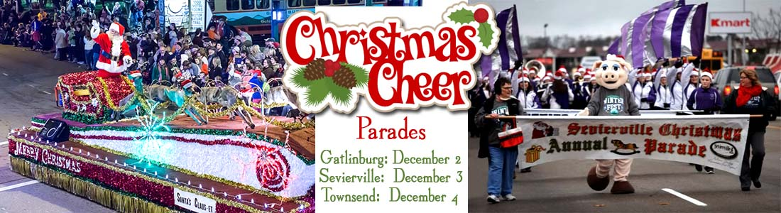 Gatlinburg Christmas Parade, Sevierville Christmas Parade, Townsend TN Christmas Parade