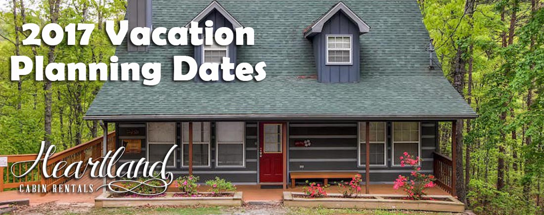 2017 Smoky Mountains Vacation Planning Dates