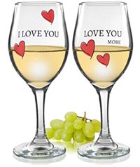 Romantic I Love You Wine Glasses
