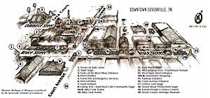 Sevierville BBQ Festival Map - Downtown Sevierville