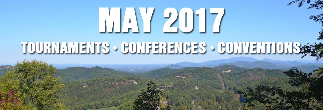 May 2017 Sports Tournaments, Educational Training Seminars, Music Conventions Smoky Mountains