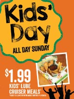 Kids Day at Quaker Steak and Lube