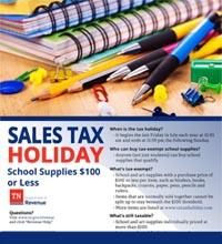 TN Tax Exempt School Supplies