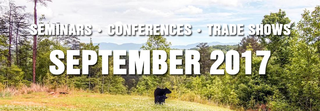 September 2017 Christian Conventions, Educational Seminars, Trade Shows in Gatlinburg, Pigeon Forge, Sevierville TN