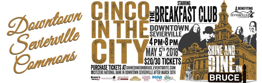 Shine and Dine on Bruce - Downtown Sevierville Moonshine and Margaritas Cinco de Mayo Special Event
